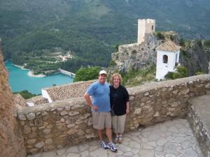 Standing in front of 12th Century Moorish Castle