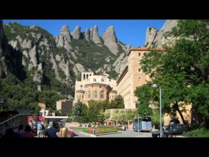 Tucked into the side of a mountain, Montserrat