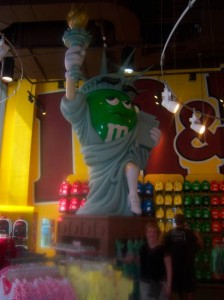 Lady Liberty as an M&M
