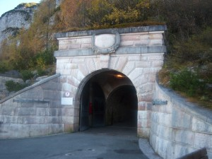 Entrance to the tunnel of that takes you to the Eagle's Nest