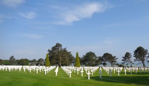 American Cemetery in Colleville-sur-Mer, Normandy, France